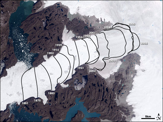 Monitoring the Earth's Polar Glaciers and Ice Shelves